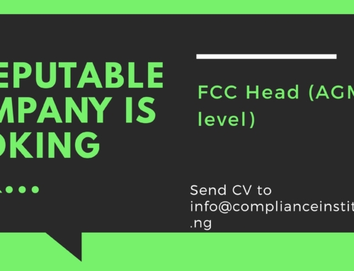 Job Vacancy – FCC Head(AGM/DGM level)